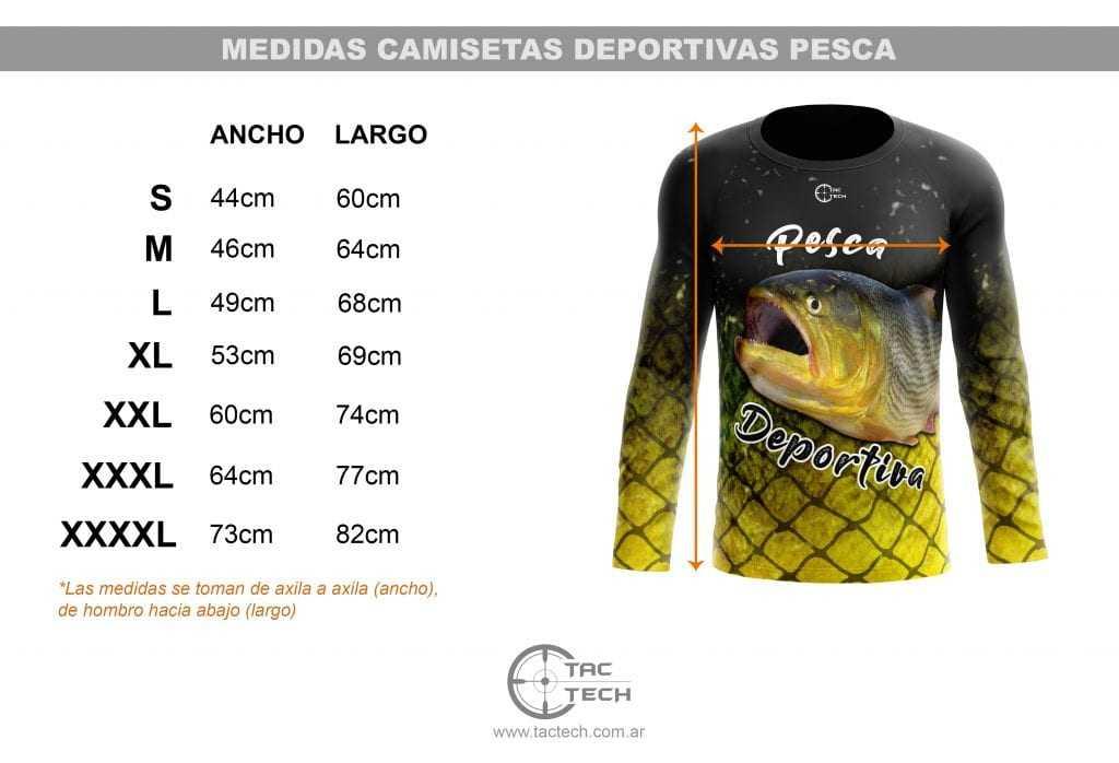 Tabla de talles y medidas _ Rem Pesca tactech